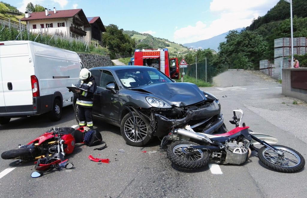 Motorcycle Crash with Car