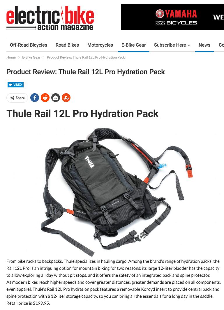 Thule Rail 12L Pro Hydration Pack