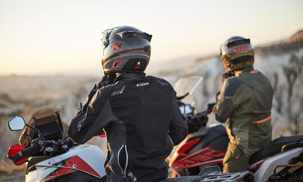 Motorbikers at Sunset