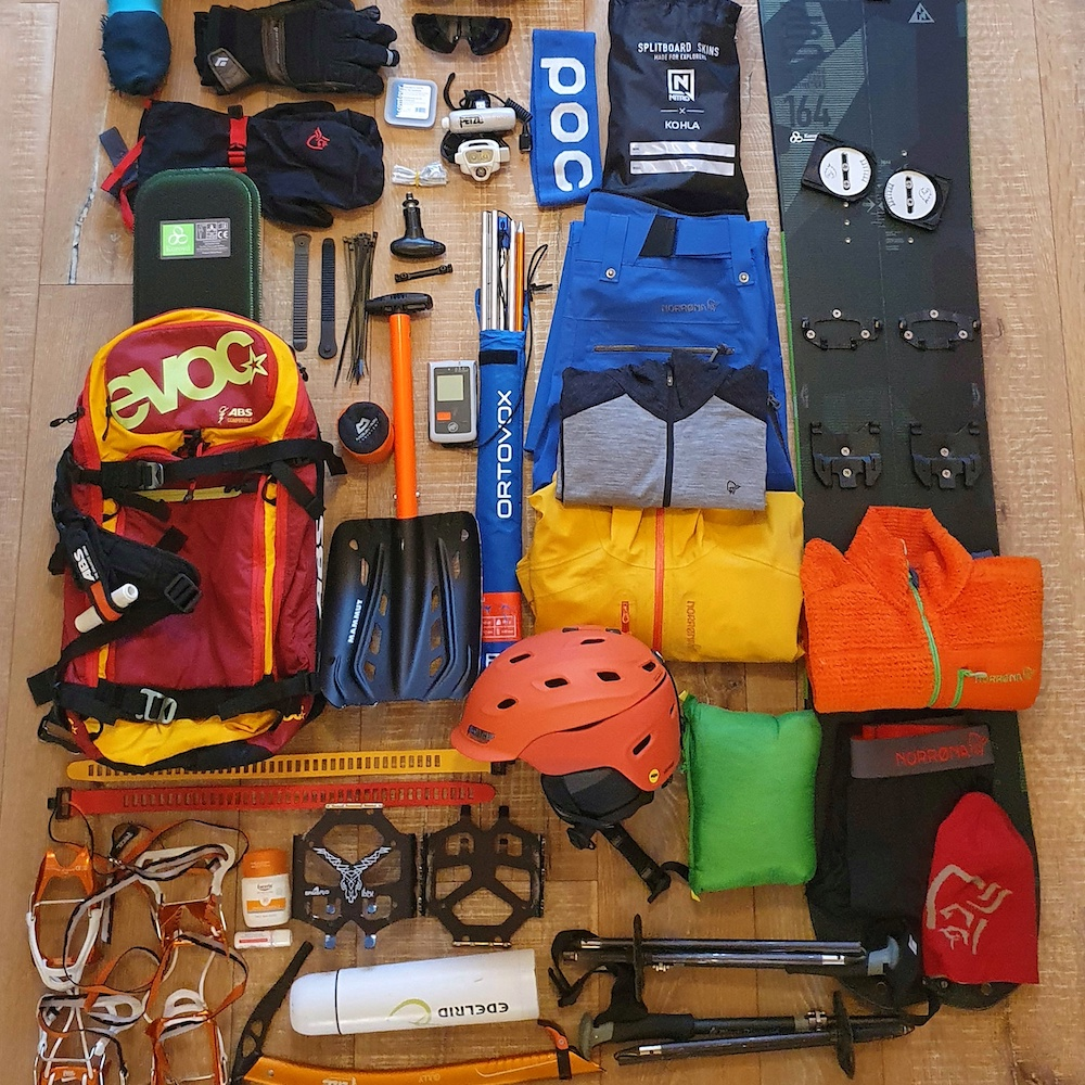 Splitboarding Packing List